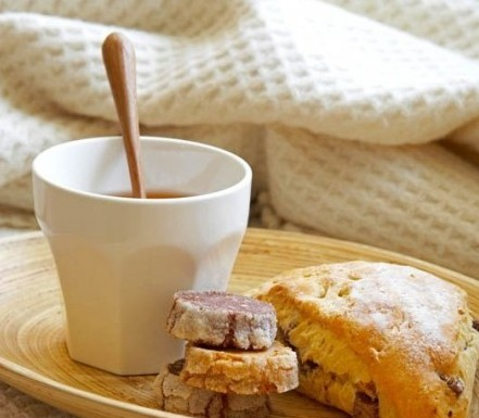 scones and cup of tea