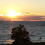 It doesn't get any better than watching the sun disappear into the Great Lake.