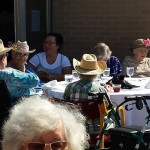 Residents from The Gardens remain safe in the sun by donning sassy straw hats.
