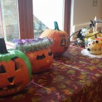 Pumpkins on display for the contest.