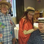 Costumed residents at the party.