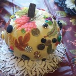 Third place goes to Diane Reece from The Inn with her button pumpkin!