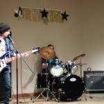 Salvage, a rock band made up of two young gentlemen from the dining services crew plus a third band member rock out the National Anthem and an original song.