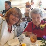 102-year old resident Willie Heinig with her daughter at the 2nd annual Kalamazoo Centenarian Luncheon.