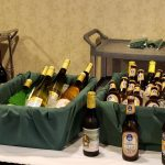 German beers and wines on display at the party.