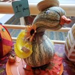 First Place in pumpkin decorating contest--Gourdelia from the Gardens