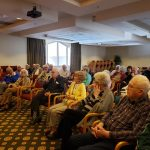 A large crowd to hear the Life Storytellers program--a common occurrence for this class